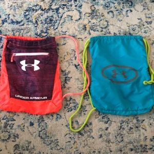 Two under armour drawstring bags